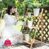 Bamboo Wooden 3 Layer Flower Stand Plant Pot Stand Flower Shelf