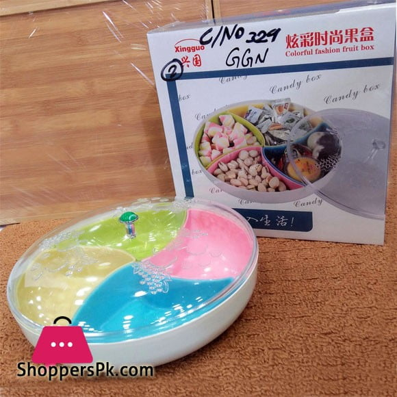 COLORFUL FASHION DRY FRUIT BOX ROUND PLASTIC