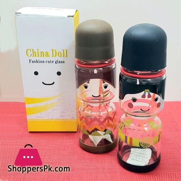 China Doll Fashion Cute Glass Bottle 350-ML