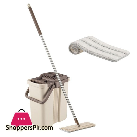 CleanWise Flat Mop and Bucket System Self-Wash and Squeeze Dry