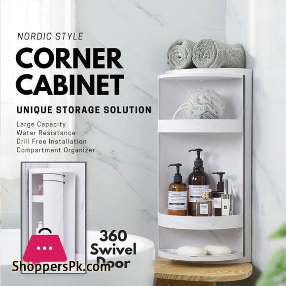 Corner Rack Rotating Bathroom Rack Multi-function