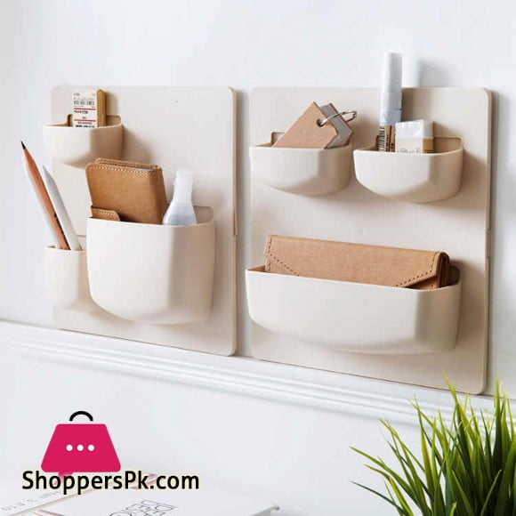 Creative Bedroom Headboard Wall Cabinet Closet Paste Rack Storage Bathroom Shelf