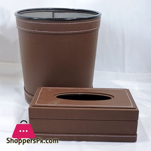 Fancy Dustbin & Tissue Box Set