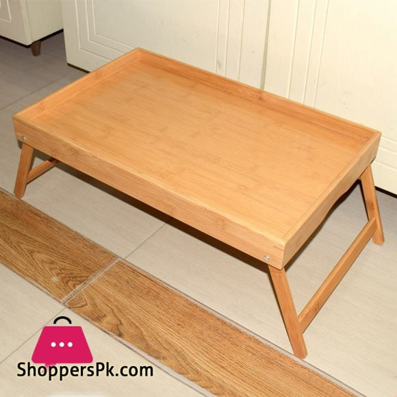 Foldable Bed Serving Bamboo Wood Tray