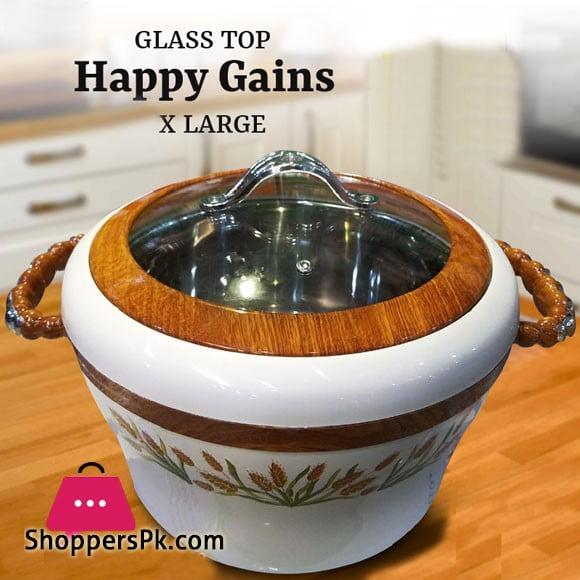 Happy Gains X-Large Glass Top Hotpot 1 Pcs