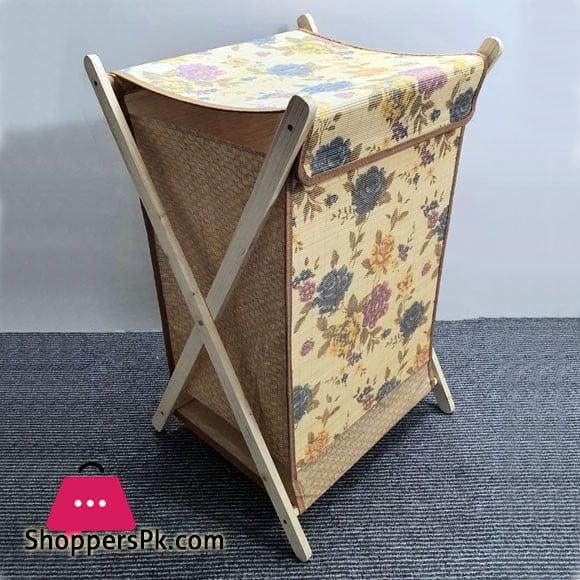 High Quality Folding Wooden Laundry Basket