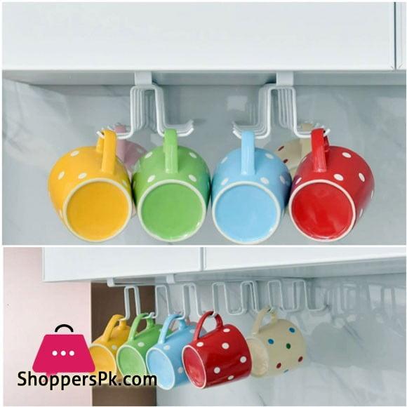 Kitchen Cup Hanger Holder Under Cabinet Space Save