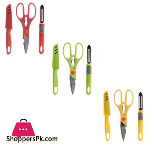 Kitchen Knife , Scissors & Peeler 3 Pcs Set