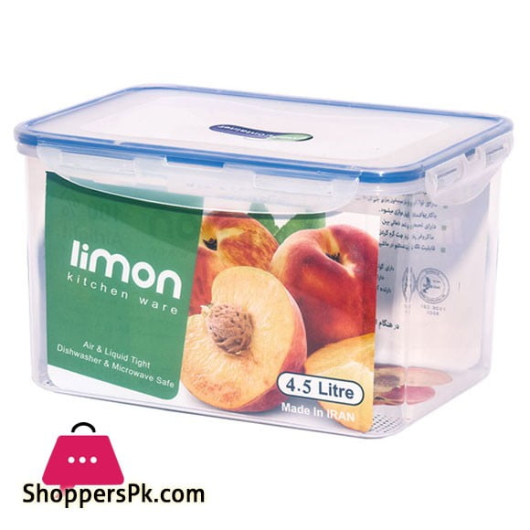 Limon Rectangle Food Container 4.5 L