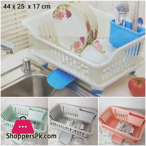 LingChin Plastic Dish Drainer Plate Rack