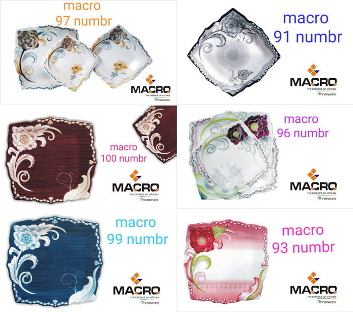Macro Melamine 8 Person 72 Pcs Dinner Set