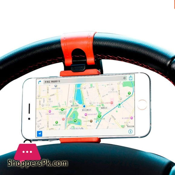 Mounted on Steering Wheel Car Phone Holder