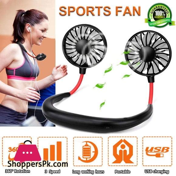 Neck Fans Mini Portable Outdoor Fan Personal Fan USB Battery Operated Rechargeable Neckband Fan