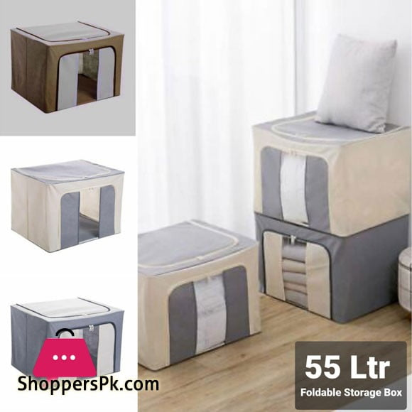 Portable Non Woven Cotton Quilt Storage Bag Cloth Container Organizer Box
