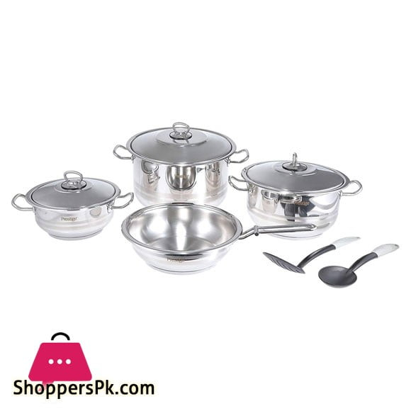 Prestige Stainless Steel 9Pcs Set - 7001