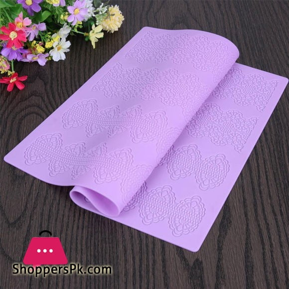 Silicone Mold Flower Cake Lace Mold Decorating Fondant Silicone Cake Mold Sugar Lace Mat Embossing