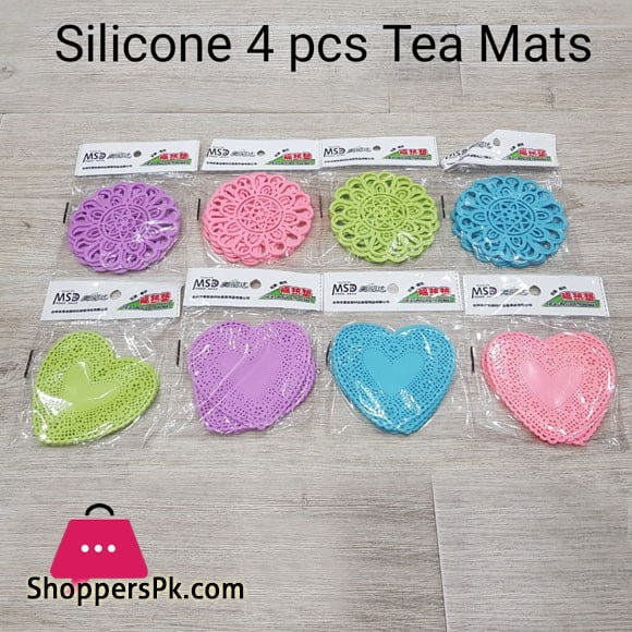 Silicone Tea Mat Set of 4