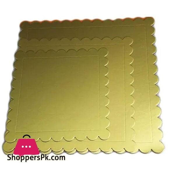 Square Plain Cake Board Set 3 Pieces