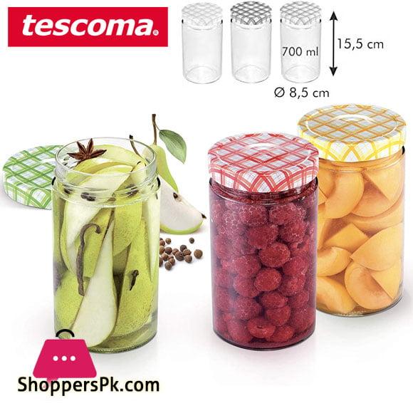 Tescoma Della Casa Preserving Jars 700-ML Set 3 pieces Italy Made - #895116