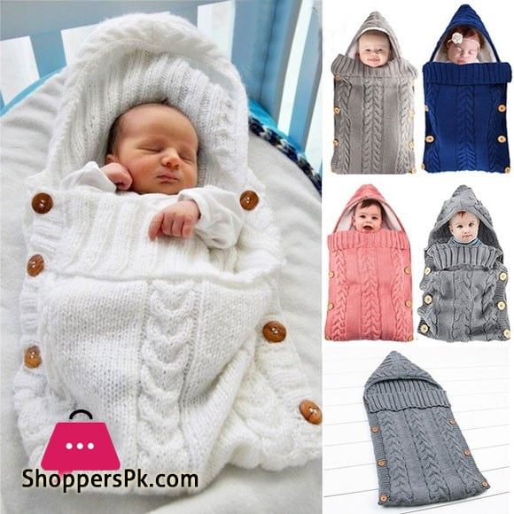 Winter Autumn Newborn Baby Blanket Swaddle Sleeping Bag Kids Toddler Sleep Sack Stroller Wrap - Random Design