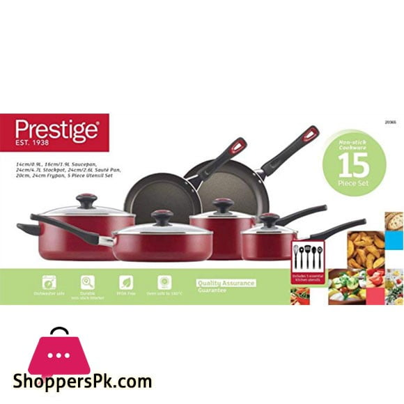 Prestige 15pc Non Stick Cook Set - 20365