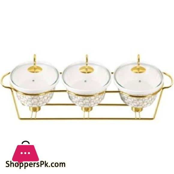"""Brilliant 3pcs 9""""Oval Casserole with Hang Lid - BR0250"""
