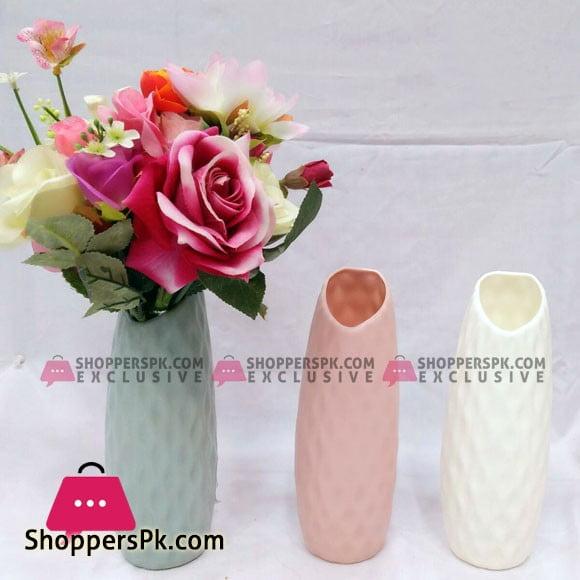 1 Pcs New Beautiful Design Flower Plastic Vase