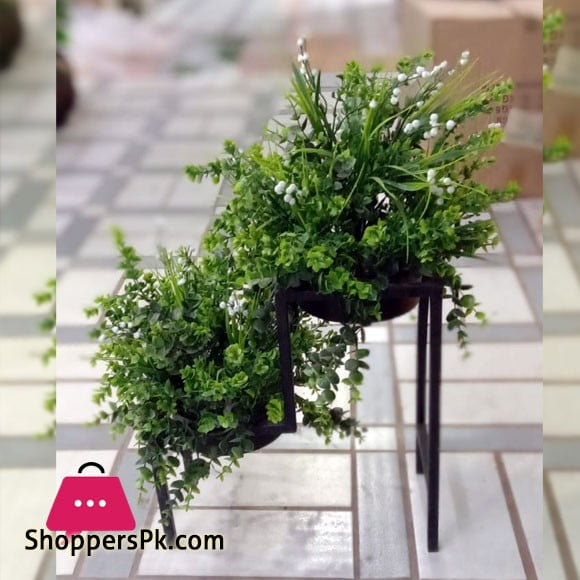 2 Tier Plant Flower Pot Stand Rack Garden