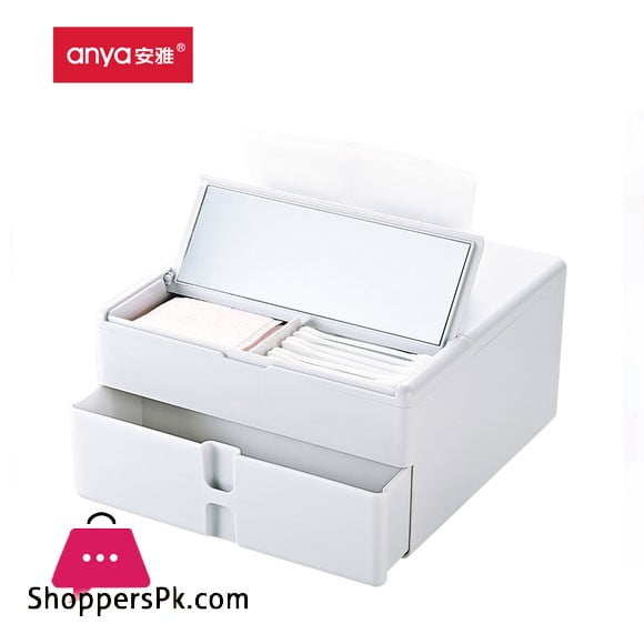 Anya Multifunctional Tissue Box Creative Cosmetics Storage Box Drawer Desktop Plastic European-style Pumping Paper Box
