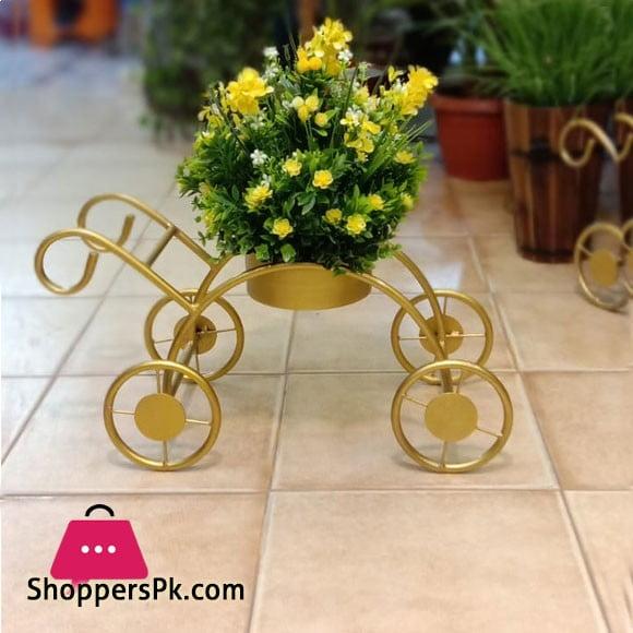 Artifical Flower Metal Cycle Flower Pot 619-1