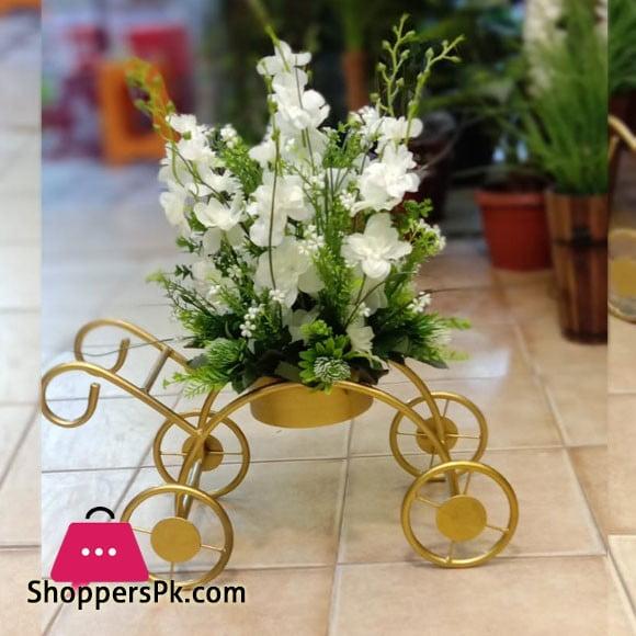 Artifical Flower Metal Cycle Flower Pot 619-3