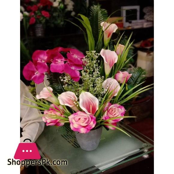Beautiful Artificial Flower Pot Arrangement 236D4