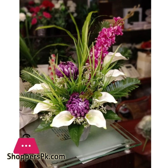 Beautiful Artificial Flower Pot Arrangement 236D5