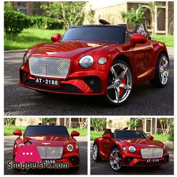 Bentley New Continental GT - Kids Ride On Car Battery Powered RC Remote Control Car - Wine Red Paint Color AT-2188