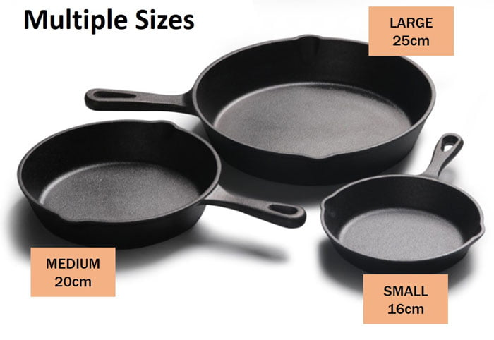 Cast Iron Skillet Pan Durable Fry Pan -10 Inch