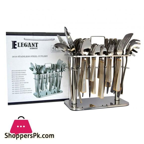 Elegant Cutlery Set 42Pcs (Doted) - CC0001