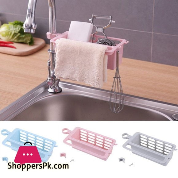 Faucet Clip Drain Rack Kitchen Sink Rag Holder