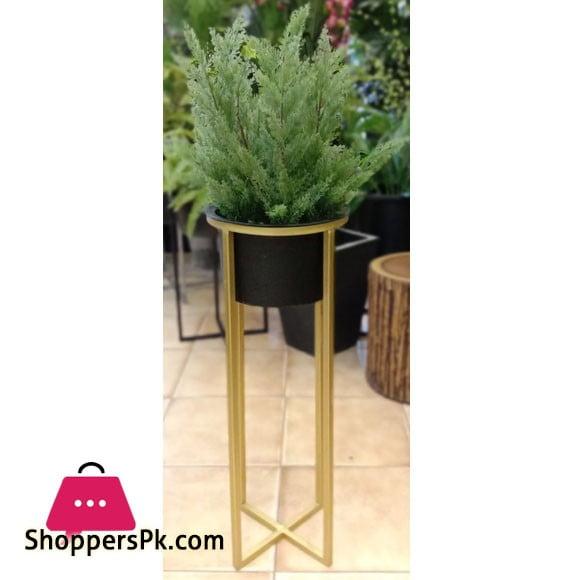 Golden Iron Stand Succulent Vase Grass Metal Flower Pot