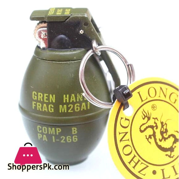 Green Metal Military Army M26A1 Smoke Model Cigarette Lighter with Keychain