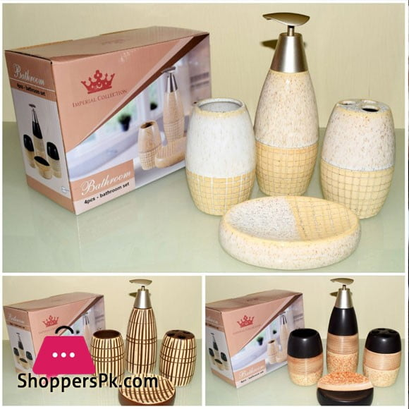 Imperial Collection 4 Pcs Bathroom Set