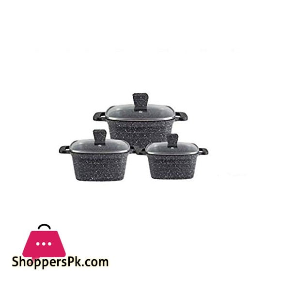 Internatinal.UK 6 Piece Granite Coating Cookware Set ST3003
