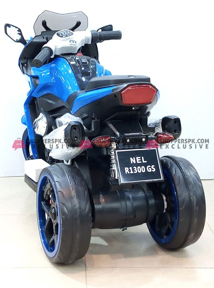 Kids Ride on Motorcycle Battery Powered Trike 3 Wheel Bike Hand Accelerator NEL-R1200GS