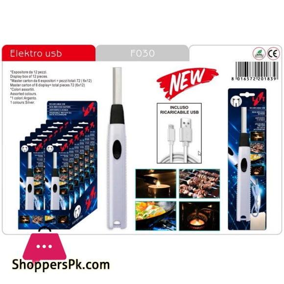 LIT Electro USB Lit Gas Lighter - F030 Italy Made -1 Pcs