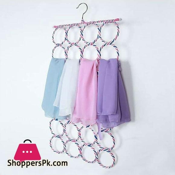 Metal Folding Scarf Ring Hanger 12 Ring