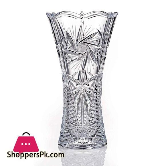 Pinwheel Crystal Vase, 12 Inches