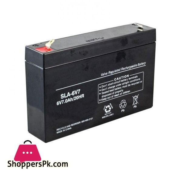 Rechargeable Battery 6 Volt 7 Ah
