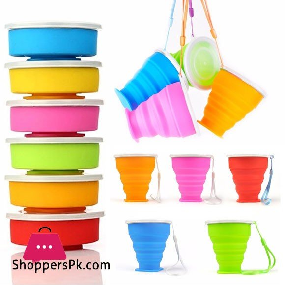 Silicone Foldable Water Glass 190ml Top Grade Silicone Water Glass for Travel Picnic