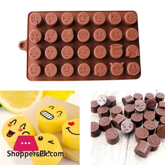 Silicone Mold DIY Emoji Face Chocolate Mold