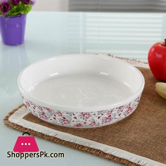"""Solecasa Floral Dish-Round-Ceramic-10"""""""