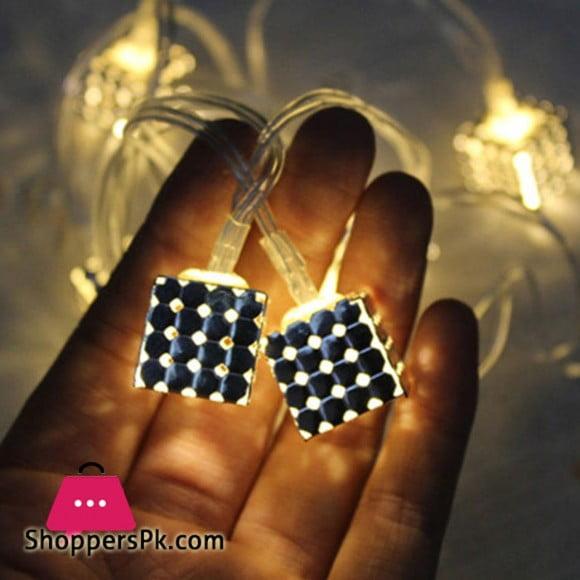 20 LED Metal Square String Lights LED Fairy Lights